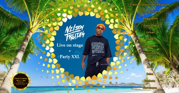 Poster for Live on stage Nelson Freitas + Party XXL 3 Area in Amsterdam on Friday, September  9 by Fiesta Coconut
