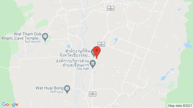 Map of the area around RAIN TREE PARK Thung Luang, Phrao District, Chiang Mai 50190, Thailand
