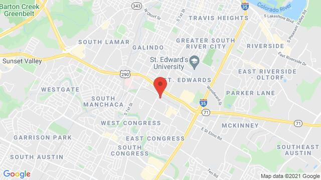 Map of the area around 4201 S Congress Ave Unit 108 Austin TX United States