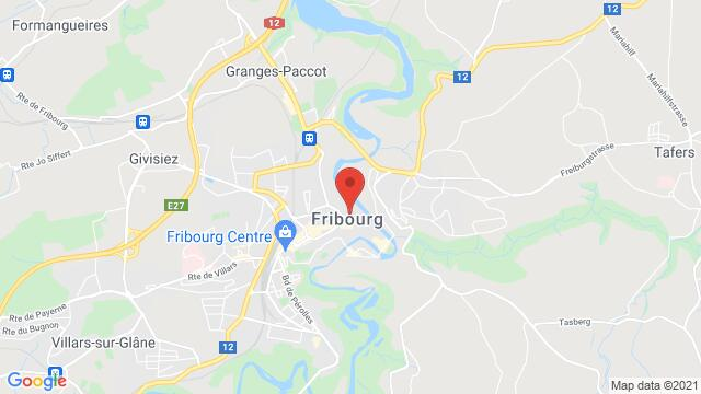 Map of the area around 4, Place de Notre Dame Fribourg FR