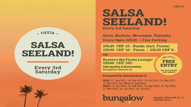 Poster for SALSASEELAND! on Saturday, October 16 by BUNGALOW