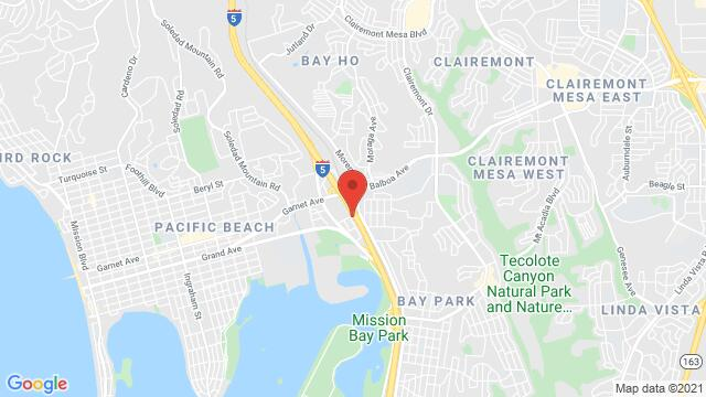 Map of the area around 3567 Del Rey St San Diego CA United States