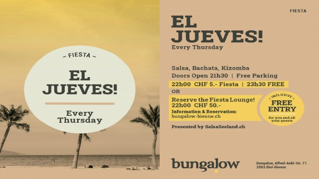 Poster for EL JUEVES on Thursday, October 28.
