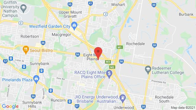 Map of the area around Brisbane Technology Park 3 Clunies Ross Ct, Eight Mile Plains QLD 4113, Australia
