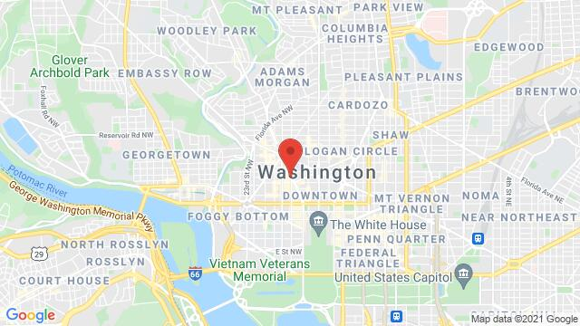 Map of the area around 1216 18th St NW Washington DC DC United States