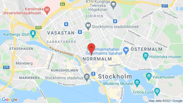 Map of the area around City Conference Center, Norra Latin, Stockholm, Sweden