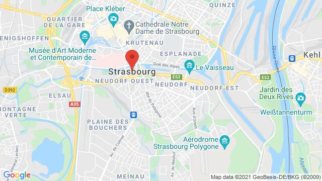 Map of the area around Strasbourg , France