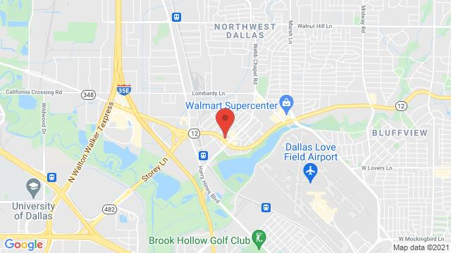 Map of the area around 2907 W Northwest Hwy Dallas TX US