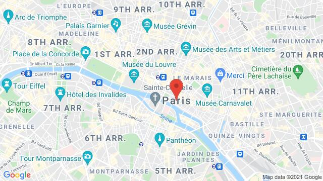 Map of the area around Paris , France