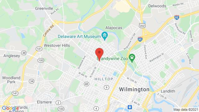 Map of the area around 1206 N Union St Wilmington DE United States