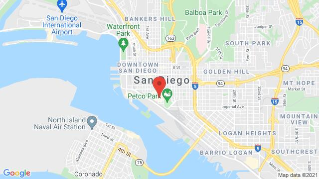 Map of the area around 353 5th Ave San Diego CA US